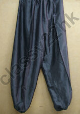 ONE (1) PAIR OF 45 IN Black satin Lion Dance and Kung Fu Trousers pants SPECIAL