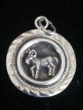 Sterling Silver 925 vintage Ram Or Aries PENDANT