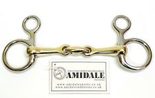 Amidale Hanging Cheek Lozenge Baucher Horse Bit S. Steel Copper Mix Bnwt