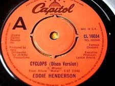 """EDDIE HENDERSON - CYCLOPS   7"""" VINYL"""