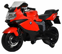 BMW 12v kids ride on toy mini bike red motorcycle battery power powered wheels