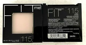 LOT OF 2 MAYBELLINE FIT ME PRESSED POWDERS  115 IVORY