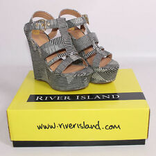 "River Island Women's Wedge Very High Heel (greater than 4.5"") Shoes"