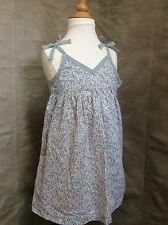 LILI GAUFRETTE Light Blue WEE POSIES Sundress Ditsy Floral Summer DRESS 5 France