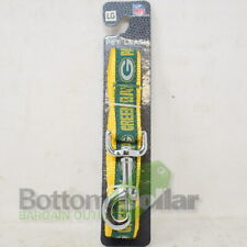 """NFL Green Bay Packers Dog Leash 1"""" Wide x 6' Long With Metal Snap Clasp Large"""
