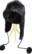 New Mens Womens Winter Warm Faux Fur Quilted Trapper Cossack Aviator Bobble Hat