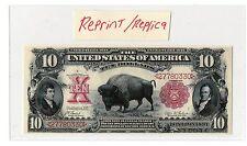 "Novelty $10 ""Bison"" Note US Paper Money  Reprint/Replica"