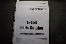 Volvo CUMMINS 6CT8.3 VHP DIESEL ENGINE Parts Manual book catalog spare list shop