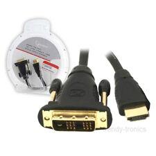 3m Dorado plateado HDMI macho a macho DVI Pc Tv Lcd Lead Cable Para Monitor