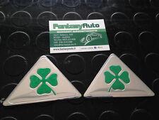 Coppia Quadrifoglio Verde Grandi Alfa Romeo Giulietta Mito 147 159 Fregio Stemma