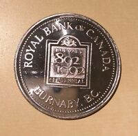 Burnaby Proud Century Royal Bank of Canada 1892 1992 Medal
