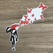 "Banksy Suicide Girl 5"" Wide Vinyl Sticker - BOGO"