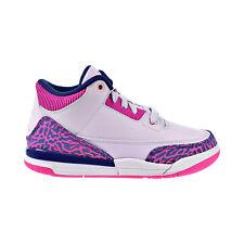 Air Jordan 3 Retro Little Kids' Shoes Barley Grape-Hyper Crimson 441141-500