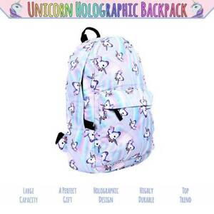 3DUnicorn College School Backpack Rainbow Bag Travel Girls Satchel Rucksack kids