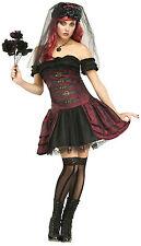 Fun World Women's Dracula Bride Vampire Queen Adult Costume Size S/M 2-8