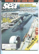 SEA CLASSICS Magazine BISMARCK FOUND! Wasp War of 1812 PRINCIPESSA Oct. 1989 VF