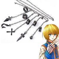 Anime Hunter x Hunter Kurapika 5 Rings Chain Charms Alloy Bracelet Cosplay