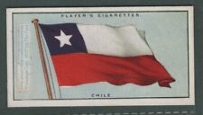 The Flag Of Chile 1920s Ad Trade Card