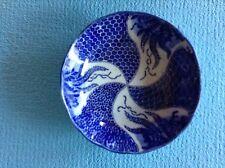 "Vintage Japanese Blue & White Porcelain Bowl 5.75"""