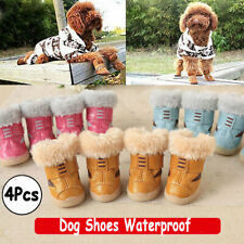 4pcs Pet Dog Shoes Winter Puppy Cat Boots Waterproof Anti-Slip Paw Protector