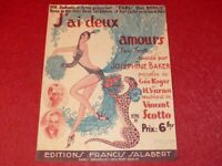 Sheet Josephine Baker / I Have Deux Lovers Eo Illustrated by Zig 1930 v.Scotto