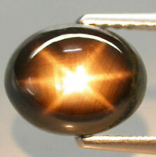 7.20Ct EXCELLENT Gem ~ Hi-End Sparkling Natural 6 Rays BLACK STAR SAPPHIRE BSS07