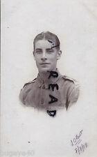 WW1 ier Pte Leonard Oscar Botte 6th De l'est Surrey Régiment De L'inde Malden