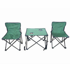2 Person Table Folding Portable Outdoor Picnic Camping Chair Set With Carry Bag