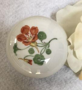 "Vintage MEISSEN Porcelain 3""Trinket / Jewelry Box 1950's"