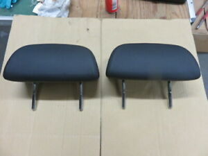 BMW 6 Series E63 X2 Rear Black Headrests / Pair Of Rear Black Leather Headrest