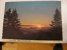 1973 Vintage Great Smoky Mountains National Park Sunset Unused Post Card