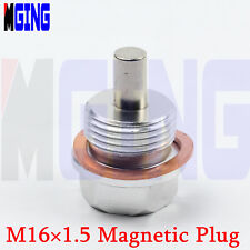 M16X1.5 Engine Magnetic Oil Pan Drain Plug Bolt Kit Cover Crush Washer BUNG SILL
