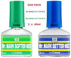 Mr.Hobby Gunze MS233 Mr.Mark Softer NEO + Mr.Mark Setter NEO 40ml+40ml OVP
