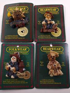Lot of 4 Vintage BEARWEAR BOYDS BEARS BEAR & FOLKWEAR PINS BROOCH New