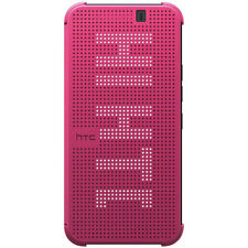 NEW OFFICIAL HC M231 HTC ONE M9 DOT VIEW FLIP SHELL CASE COVER PINK 99H20113-00