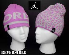e0cd32ab NWT JORDAN Girls Purple & Silver Reversible Beanie/ Winter Hat(Size 8/20