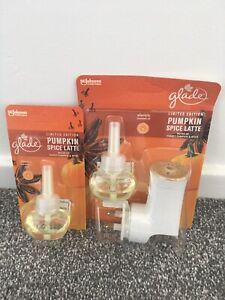 2 Glade PlugIns Pumpkin Spice Latte Scented Oil Air Freshener Halloween Refill