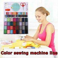 64 Rolls Sewing Machine Line thread Spool Set Bobbin Cotton Reel Needle Tape Kit