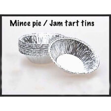 10PC SMALL FOIL MINCE PIE DISHES, CASES, JAM TART, TARTS,  PATTY TINS ROUND DISH