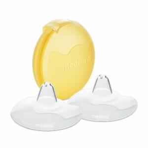 Pezoneras De Silicona Para Amamantar Lactancia Sin BPA 24mm Escudo Pezón 2 Pcs