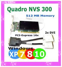 512MB WINDOWS 10 DUAL Monitor Video Card.  PCI-E 16 TOWER DESKTOP DUAL DVI Ports