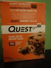 12 Peanut Butter Brownie Smash Quest Bars 20g Protein 2g Sugar APRIL 2022