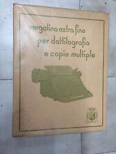 Risma bianca carta vergatina extra fine vintage nuova x dattilografia f.to 22x28