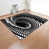 3D Bottomless Hole Area Rug Rectangular Optical Illusion Carpet Floor Mat Decor