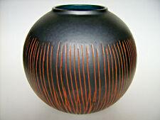 "Keramik Vase Kugelvase Carstens West-Germany ""Ankara-Variation"" 60s vintage 18cm"
