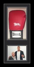 Signed boxing glove display case with photo Black Frame