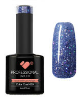 429 VB Line Blue Lagoon Silver Glitter - UV/LED nail gel polish - super quality