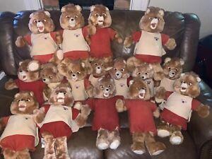 Teddy Ruxpin Brown Talking Vintage Teddy Bear Lot  1984 1985 Untested