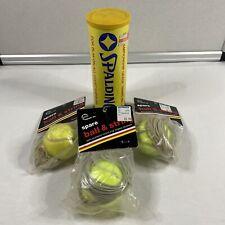 Sealed Tin Vintage 1985 Spalding Tennis Balls 3 Vintage 1984 Ball and string New