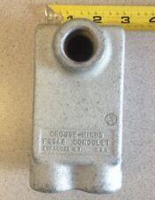 NOS Condulet Fer. Iron FSSA2 Mount Box 2-3/4 Depth 1-Gang 3/4 in Hubs Back/Same